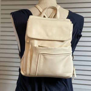 Wilsons Leather Cream Leather Backpack